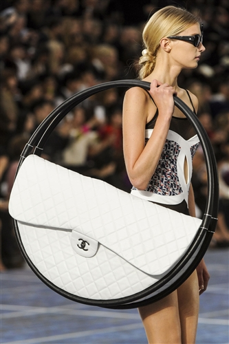 Karl Lagerfeld's Chanel hula hoop beach bag