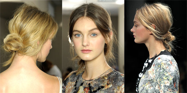 Low Messy Knots at Bottega Veneta Spring 2013