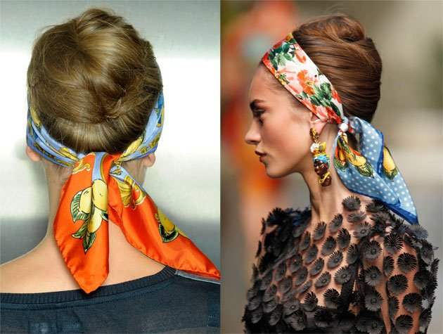how to wear a scarf french twist