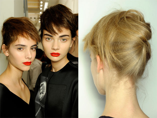 Boyish Bangs With a Twist at Prada Spring 2013