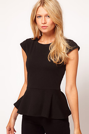 forum buys - Asos black peplum top