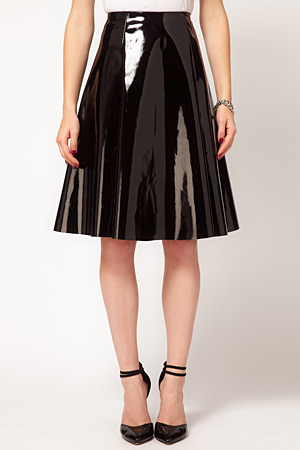 forum buys - Asos shiny wet-look skirt