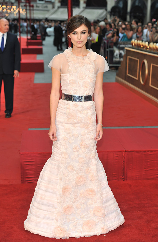 Keira Knightley in Chanel Haute Couture at the worldwide premiere of Anna Karenina in London