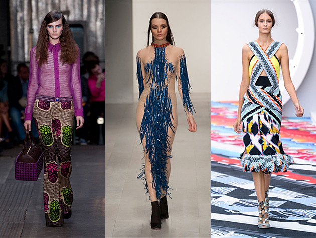 London Fashion Week Spring 2013 Misses - Moschino Cheap & Chic, Marios Schwab, Peter Pilotto