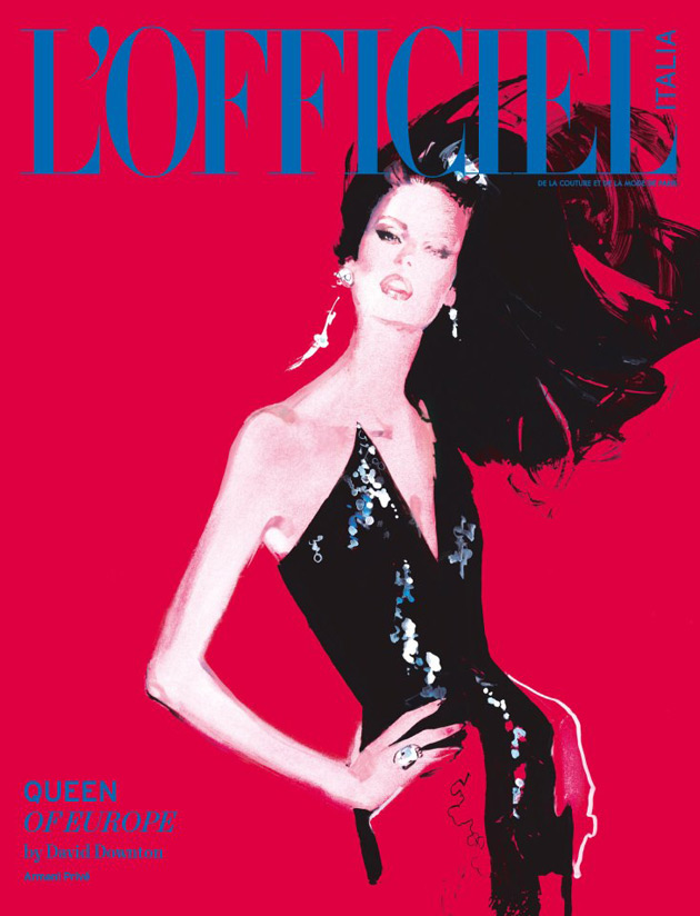 L'Officiel Italia - David Downton illustration