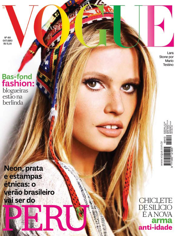 Vogue Brazil October 2012 - Lara Stone photographed by Mario Testino