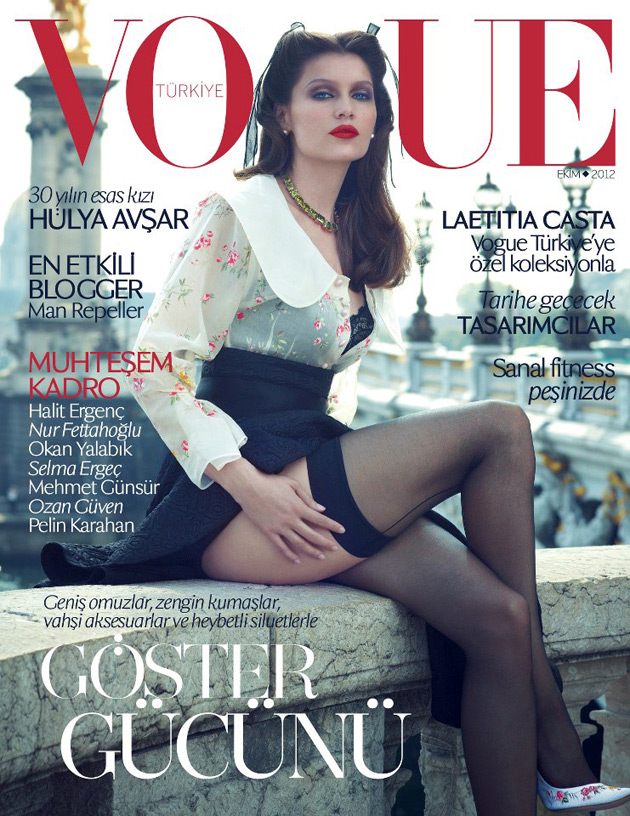 Vogue Turkey October 2012 - Laetitia Casta by Sean & Seng