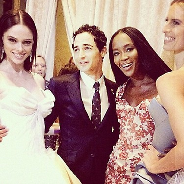 Zac Posen with Coco Rocha, Naomi Campbell Spring 2013 collection
