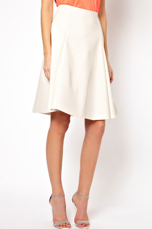 ASOS white skater skirt - forum buys