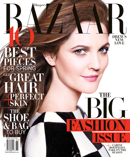 Harper's Bazaar March 2013 - Drew Barrymore photographed by Daniel Jackson