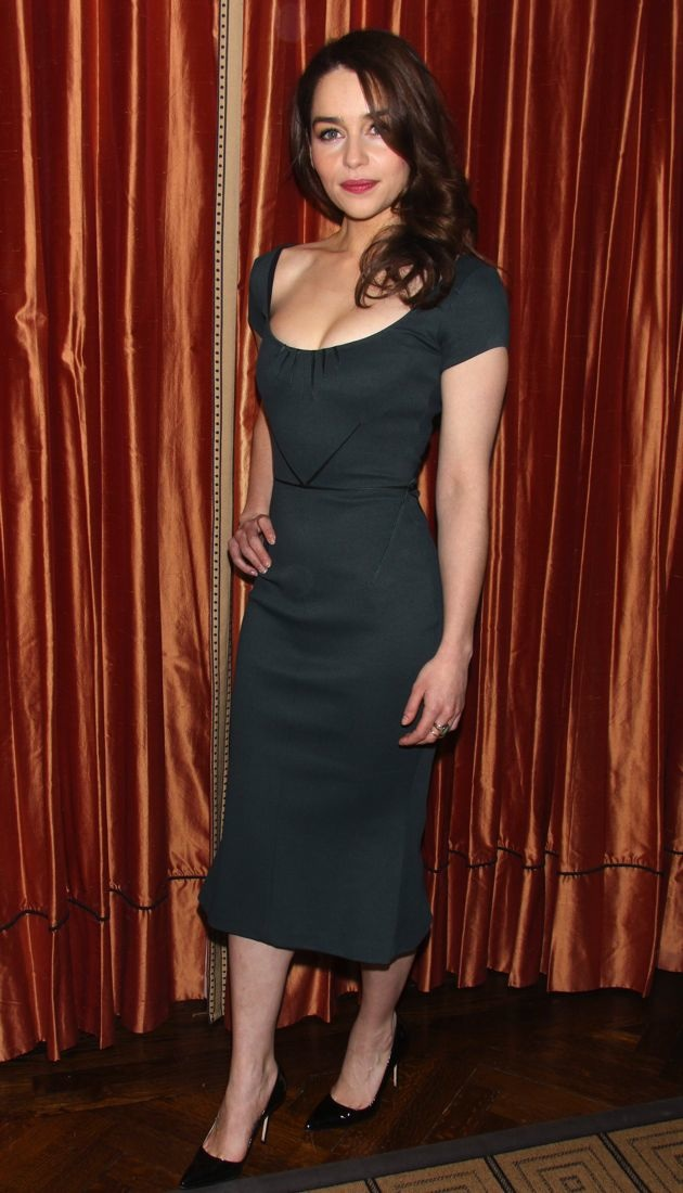 Emilia Clarke Breakfast At Tiffanys press conference New York City