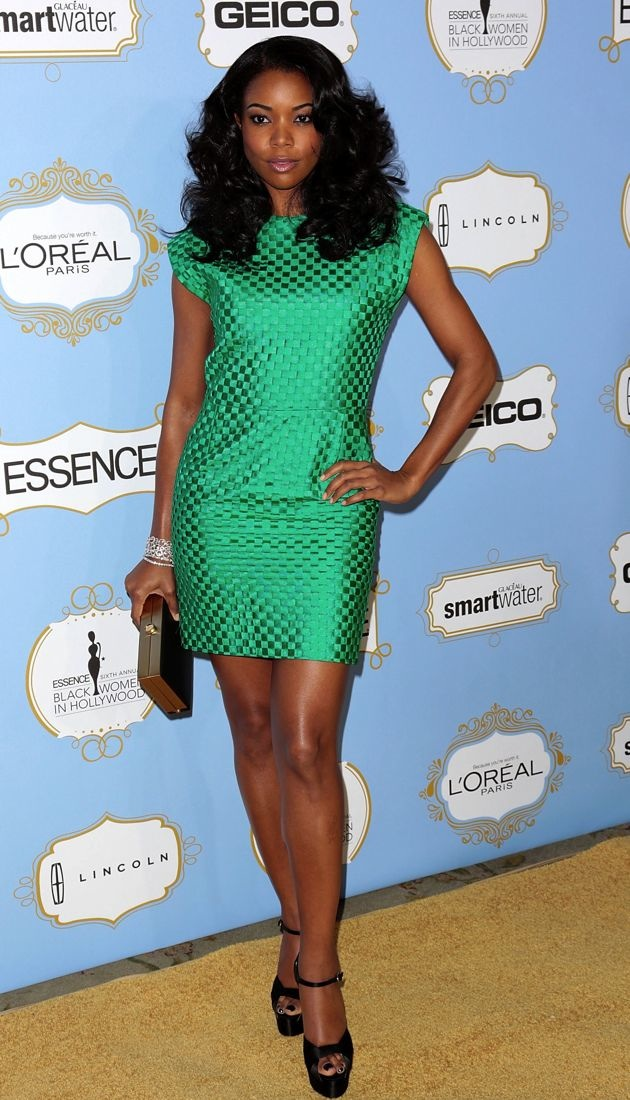 Look Of The Day Gabrielle Union Goes Vintage Glam In