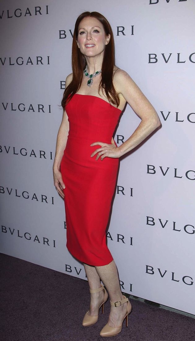 Julianne Moore celebration of Elizabeth Taylors collection of BULGARI jewelry Beverly Hills