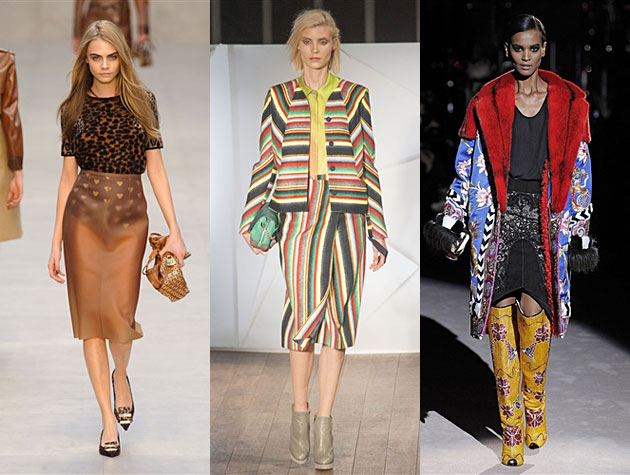 LFW Fall 2013 Misses - Burberry Prorsum, Matthew Williamson, Tom Ford