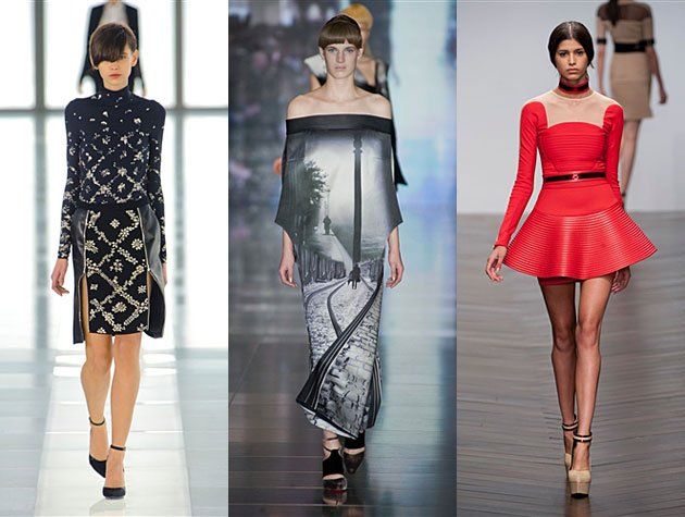 London Fashion Week Fall 2013 Hits - Preen by Thornton Bregazzi, Mary Katrantzou, David Koma