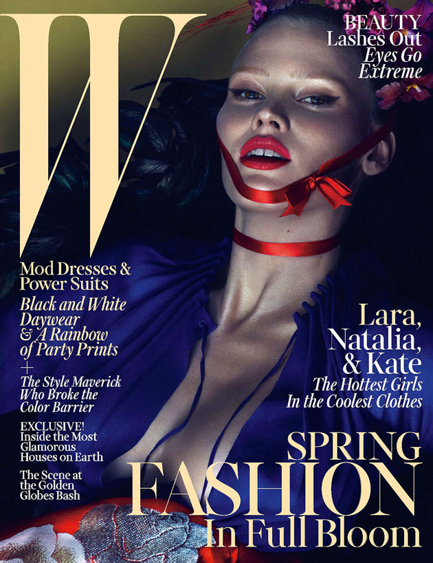 W March 2013 - Lara Stone photographed by Mert & Marcus