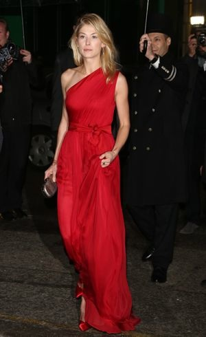 Rosamund Pike Harpers Bazaar Women of the Year 2012 London Oct 2012