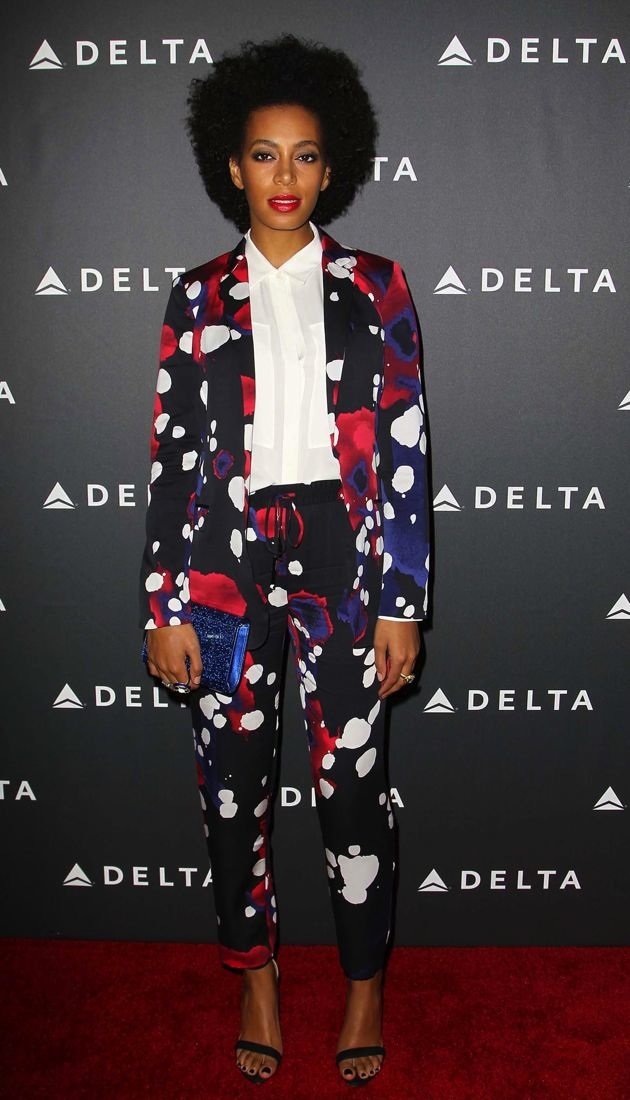 Solange Knowles Delta Air Lines celebrate LA Music Industry with Getty House reception Los Angeles