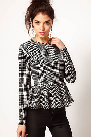 ASOS houndstooth peplum top - forum buys