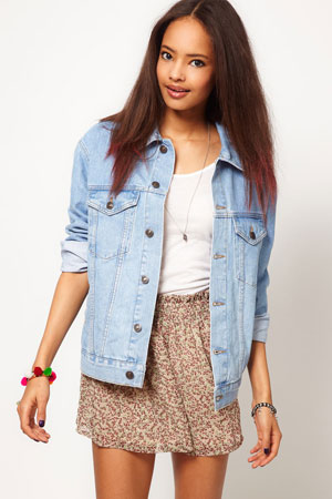ASOS oversized boyfriend fit denim jacket - forum buys