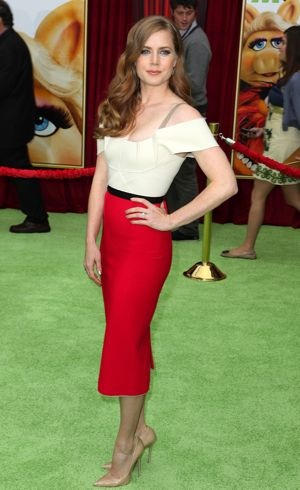 Amy Adams premiere of The Muppets Los Angeles Nov 2011