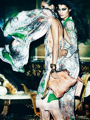 Roberto Cavalli Spring 2013 - Sui He and Isabeli Fontana photographed by Mario Testino