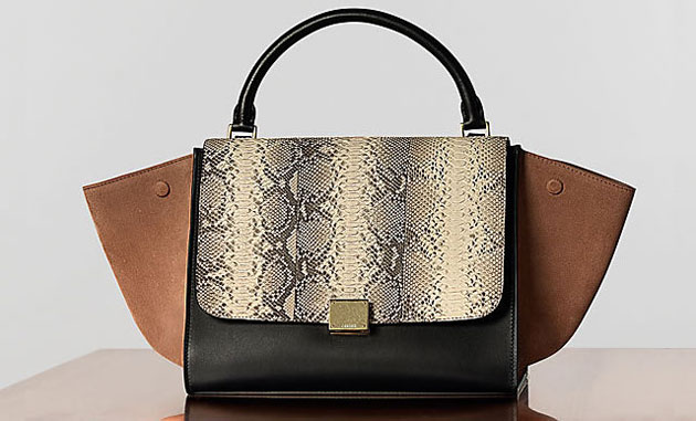 Céline Trapeze in black, brown and python - forum buys