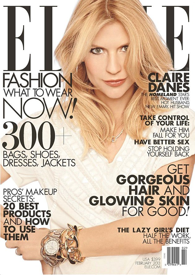 Elle February 2013 cover - Claire Danes by Carter Smith