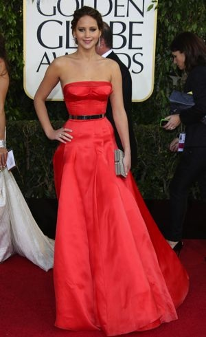 Jennifer Lawrence 2013 Golden Globes Los Angeles Jan 2013