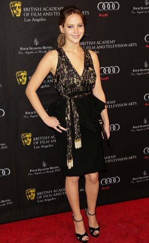 Jennifer Lawrence BAFTA Los Angeles 2013 Awards Season Tea Party Beverly Hills Jan 2013