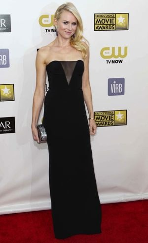 Naomi Watts 2013 Critics Choice Movie Awards Santa Monica Jan 2013