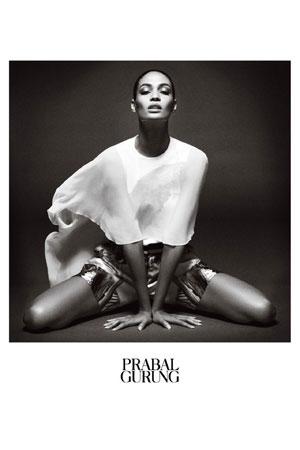 Prabal Gurung Spring 2013 - Joan Smalls photographed by Daniel Jackson