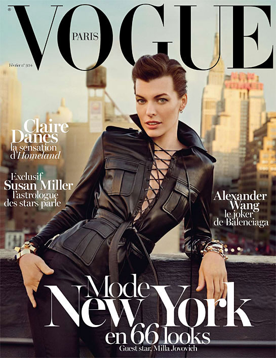 Vogue Paris February 2013 - Milla Jovovich photographed by Inez & Vinoodh