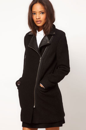 ASOS biker pea coat - forum buys