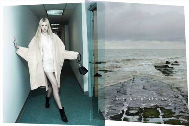 Theyskens' Theory Spring 2013 campaign - Wylie Hay photographed by Willy Vanderperre