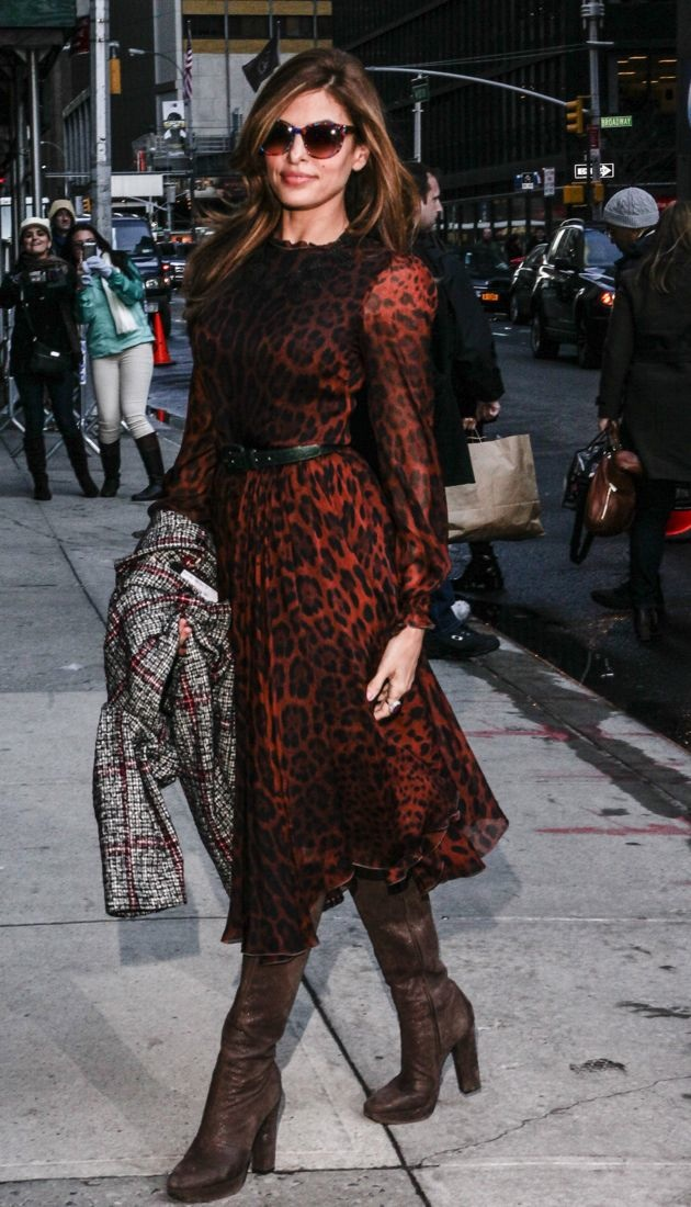 Look Of The Day Eva Mendes Shows Off Her Wild Side In