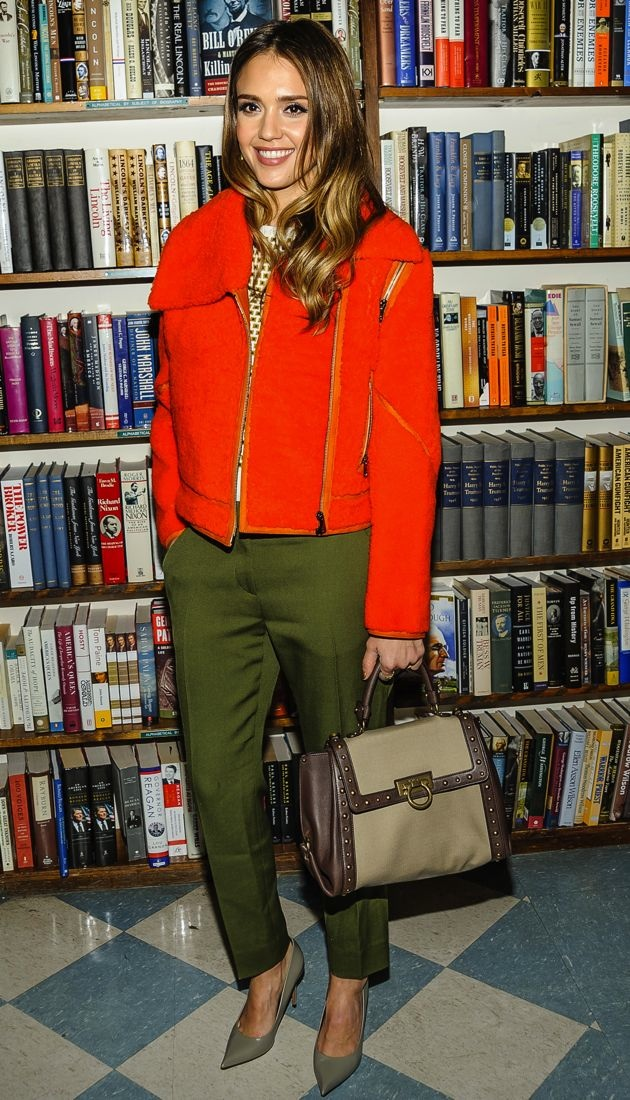 Jessica Alba at a book signing Huntington New York