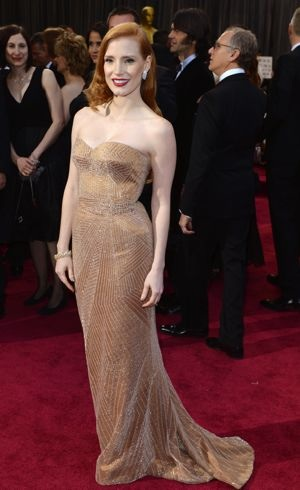 Jessica Chastain 2013 Oscars Los Angeles Feb 2013