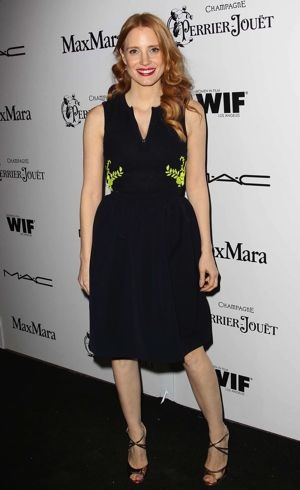 Jessica Chastain 6th Annual Women In Film Pre-Oscar Party Los Angeles Feb 2013