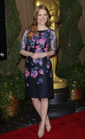Jessica Chastain 85th Academy Awards Nominees Luncheon Beverly Hills Feb 2013