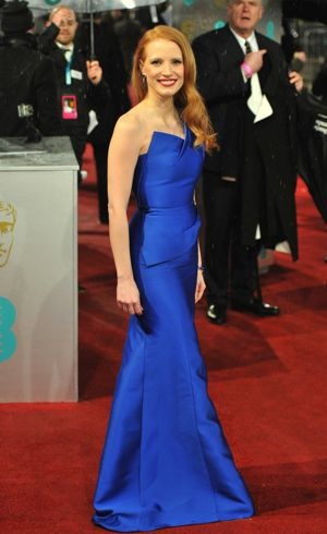 Jessica Chastain BAFTAs 2013 London Feb 2013