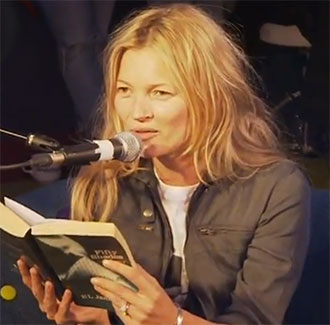 Watch Kate Moss Read Fifty Shades Of Grey Leftovers