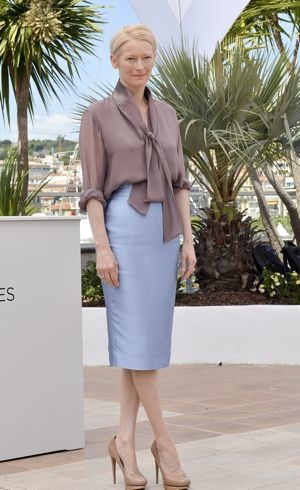 Tilda Swinton 65th Cannes Film Festival photocall for Moonrise Kingdom May 2012