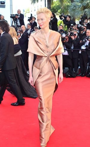 Tilda Swinton 65th Cannes Film Festival premiere of Moonrise Kingdom May 2012