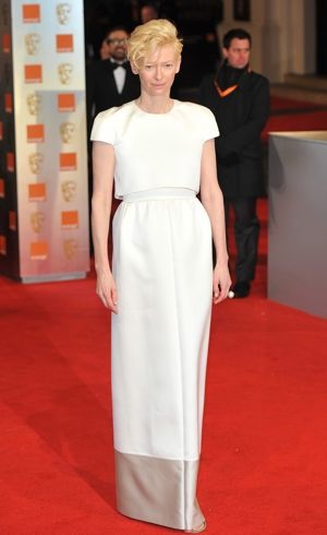 Tilda Swinton BAFTAs London Feb 2012
