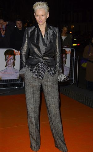Tilda Swinton David Bowie Is Private View exhibition gala night London March 2013