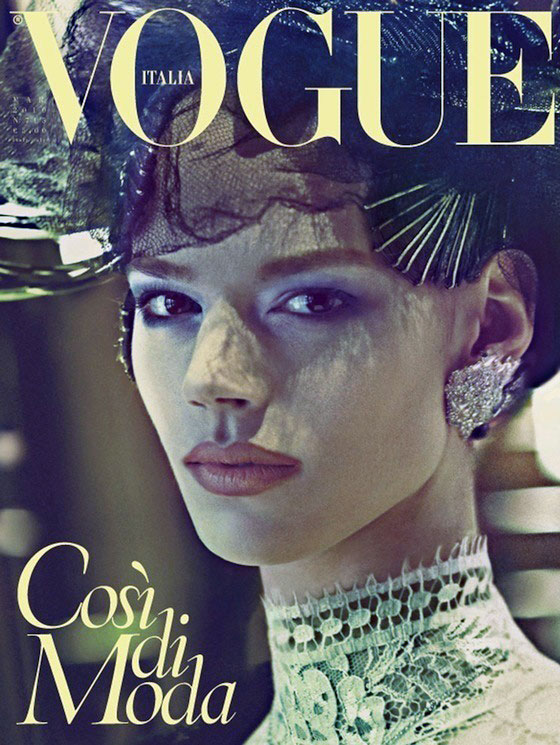 March 2010 cover and main story of Vogue Italia